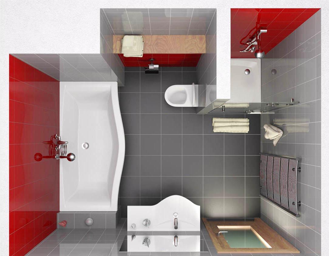 Дизайн ванны и туалета проекта