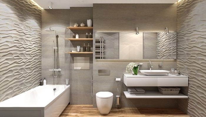 Использование площади коридора для увеличения пространства ванной