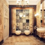 bathroom-tiles-ideas-of-antique-with-contemporary-feature-wall-style
