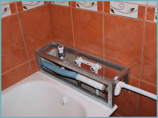 Как сделать трубу для ванной 430