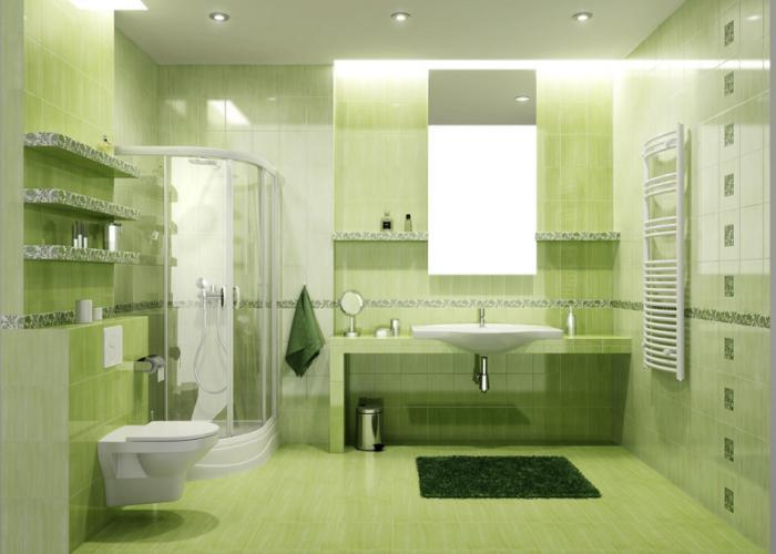 """Более """"спокойный"""" зеленый цвет для создания уютной обстановки"""