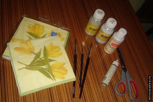 Подготавливаем необходимые инструменты и начинаем творить