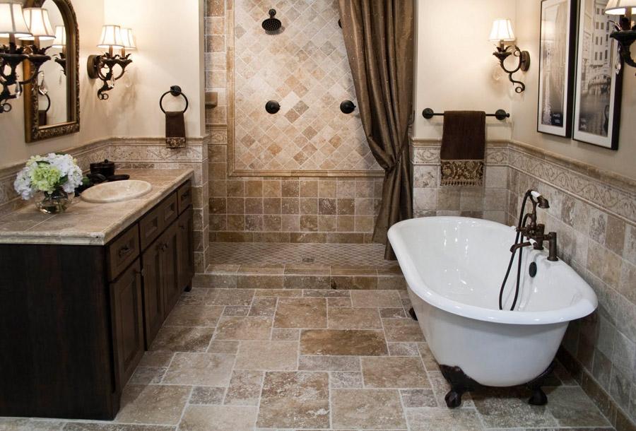 В просторной комнате можно установить ванную и душ