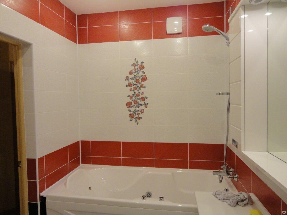 Ярким акцентом в небольшой ванной может стать красный тон в сочетании с белым