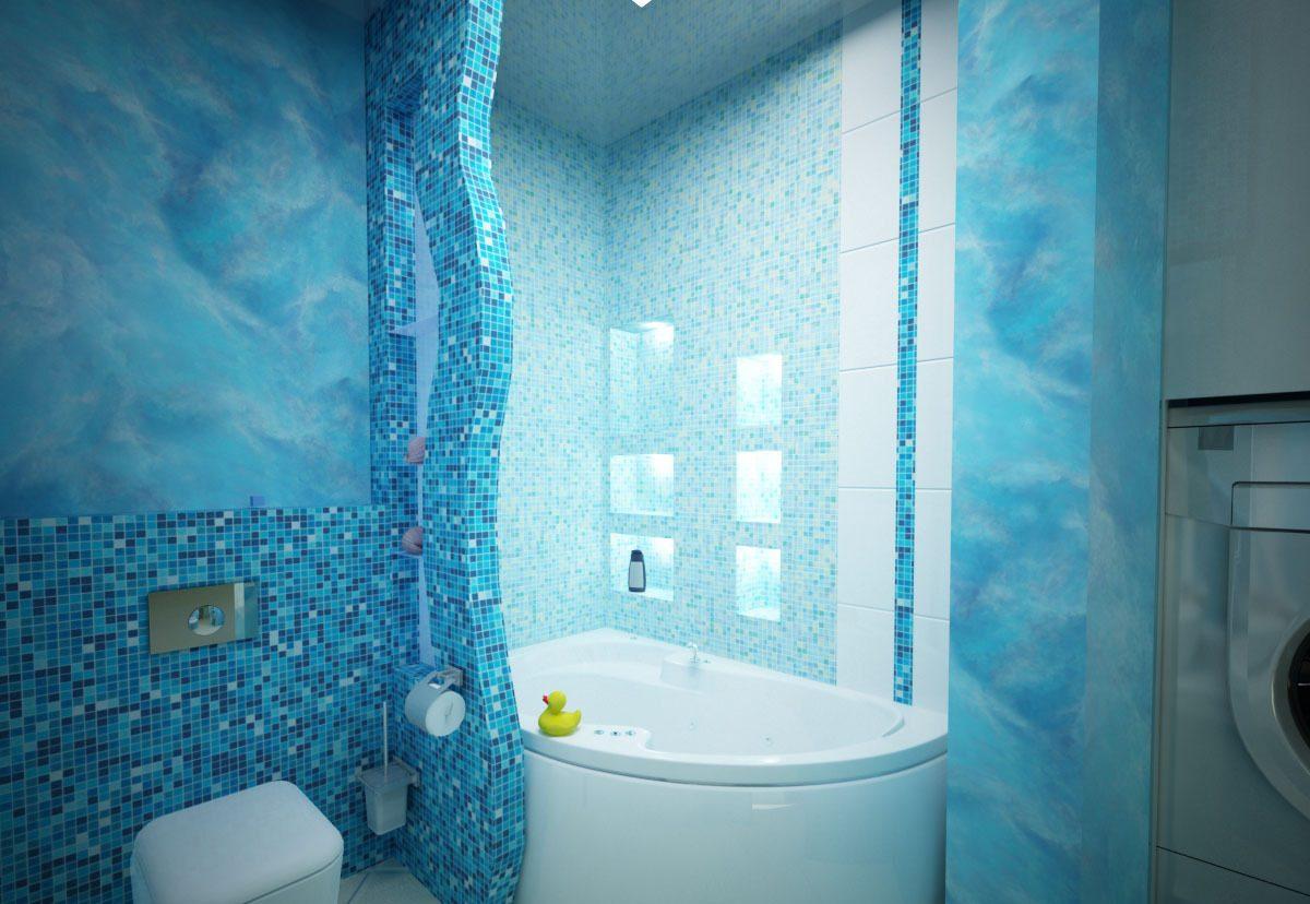 Мозаика в синих и голубых тонах - идеальна для создания оригинального дизайна