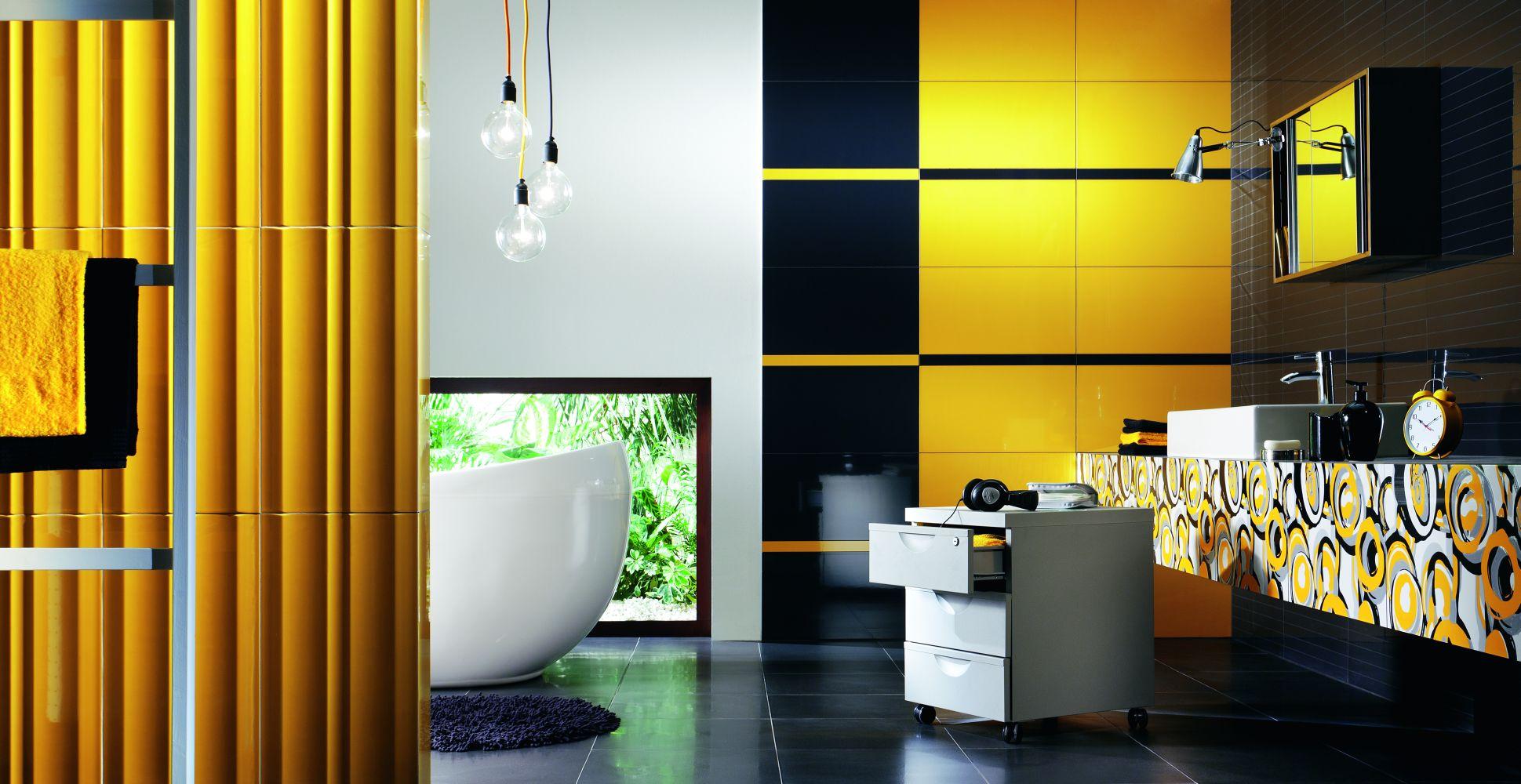 Желтые оттенки прекрасно сочетаются с другими цветами, в особенности с черным