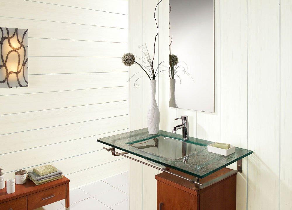 Вариант оформления ванной реечными панелями