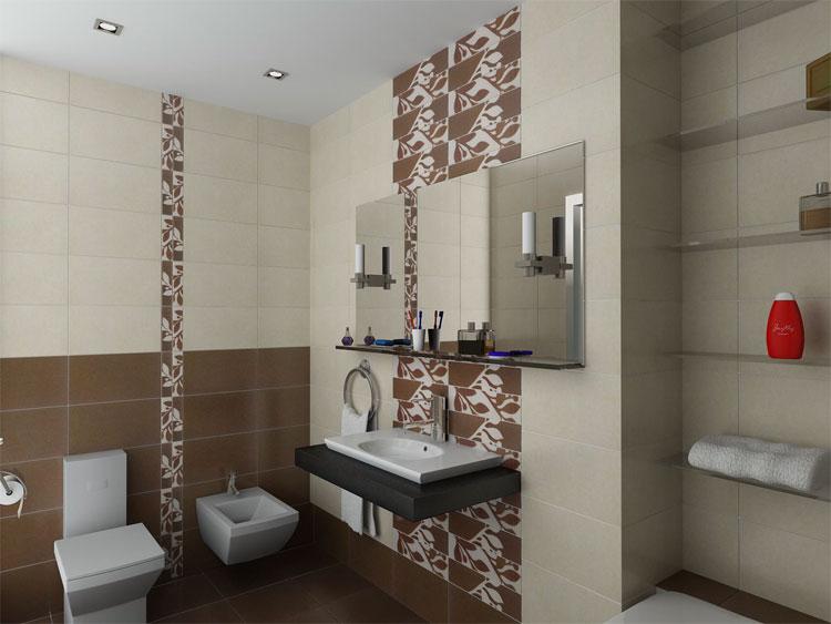 Ванная комната дизайн в коричневом цвете