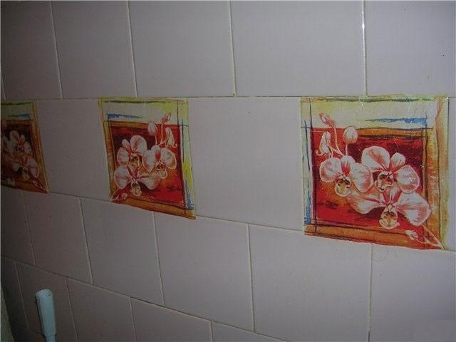 Как украсить своими руками плитку на кухне 398