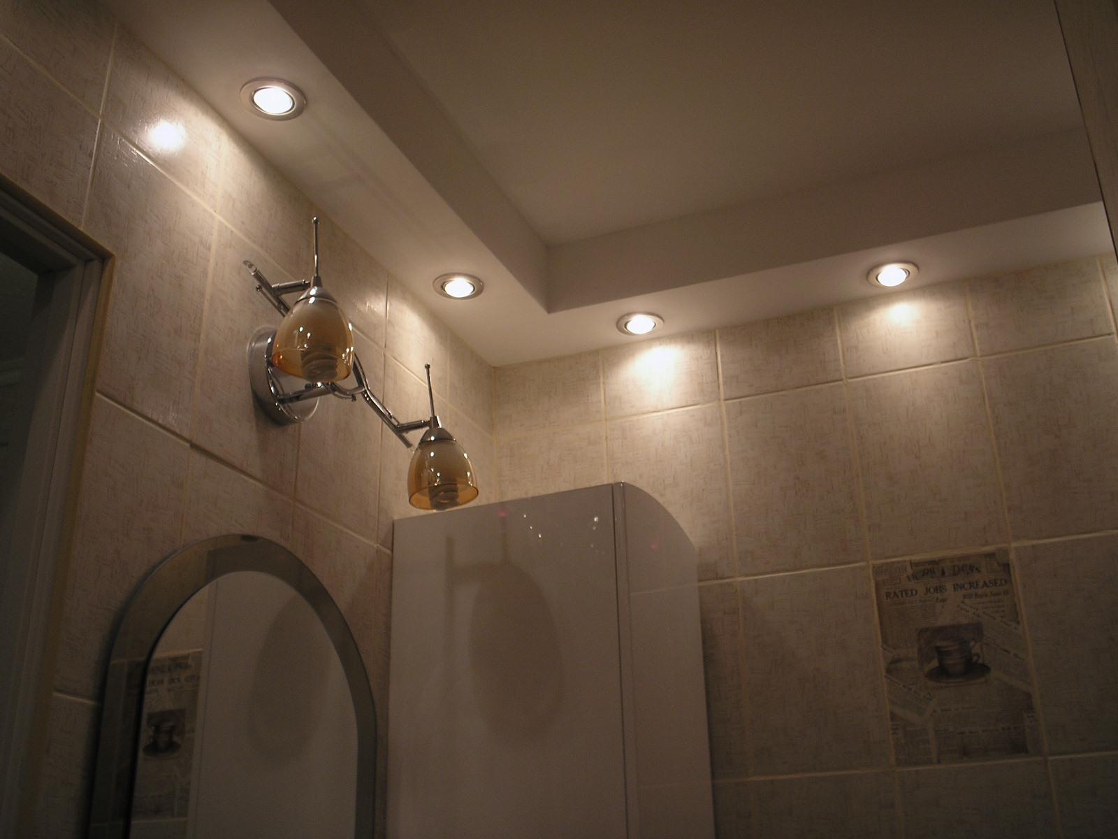 Подвесные потолки из гипсокартона своими руками в ванной