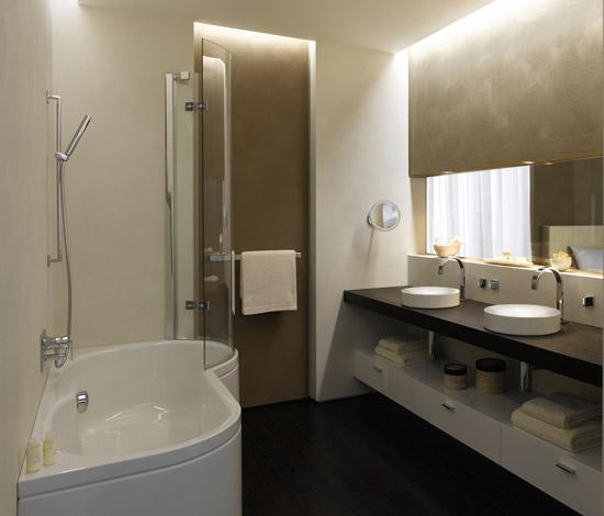 Освещение играет важную роль в интерьере ванной комнаты