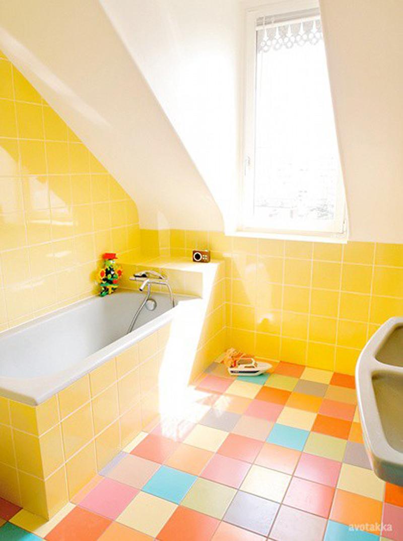 Ванная комната желтого цвета дизайн