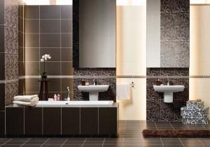 Для оформления ванной можно использовать готовые коллекции, предложенные производителем