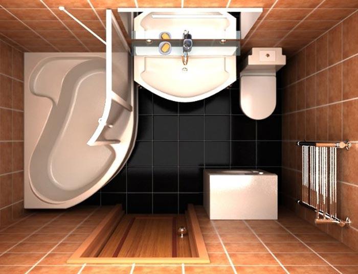 Компактное расположение оборудования в ванной