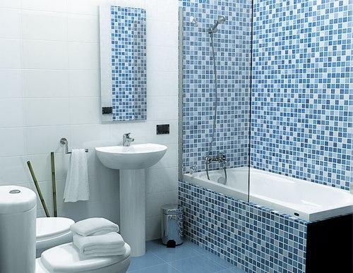 Мозаика при отделке ванной