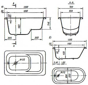 Размеры и конструкции современных ванн поражают своим многообразием