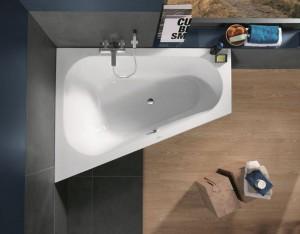 Форма ванны может быть любой, что поможет выбрать подходящую именно к вашему интерьеру и стилю