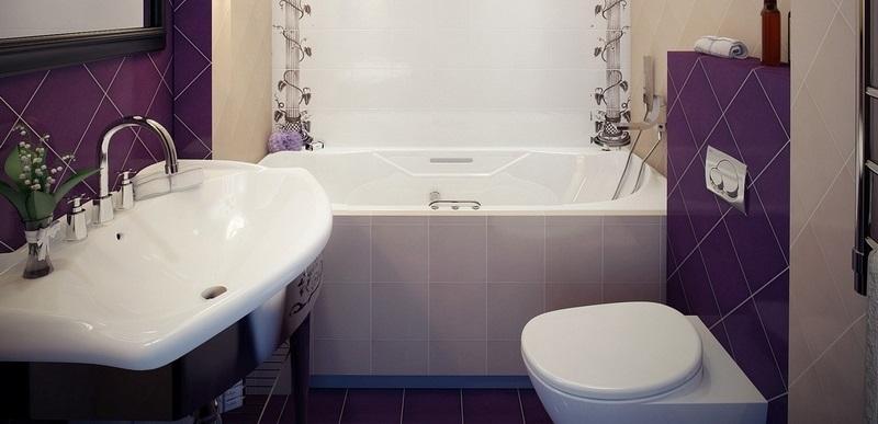 Плитка для ванной комнаты дизайн для маленькой площади 2 кв
