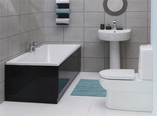 Для небольшой ванной идеальным решением будет оформление в стиле минимализм, что добавит визуально пространства и будет радовать не один год