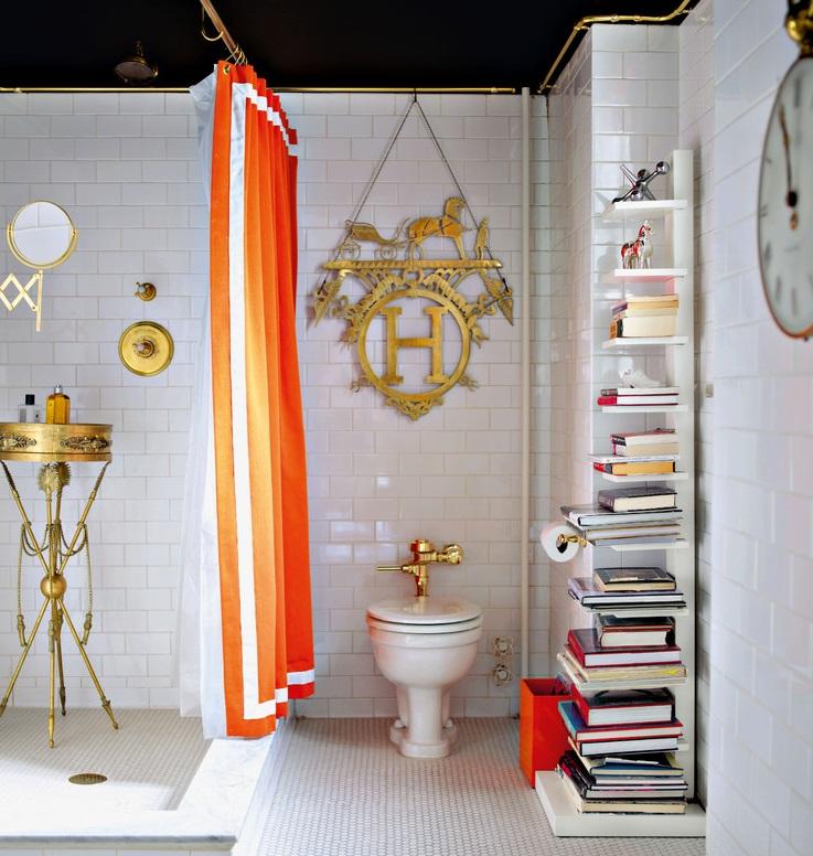 Оранжевый в качестве отдельных элементов декора будет смотреться эффектно и ярко