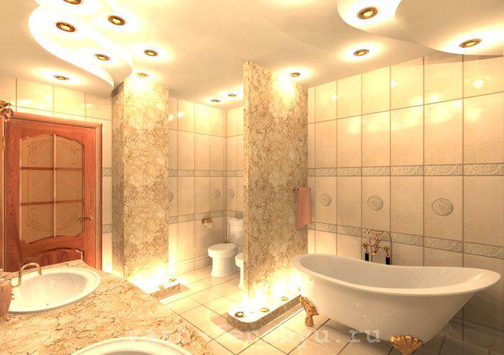 Не стоит нагромождать ванную комнату, чтобы не мешать течению жизненной энергии