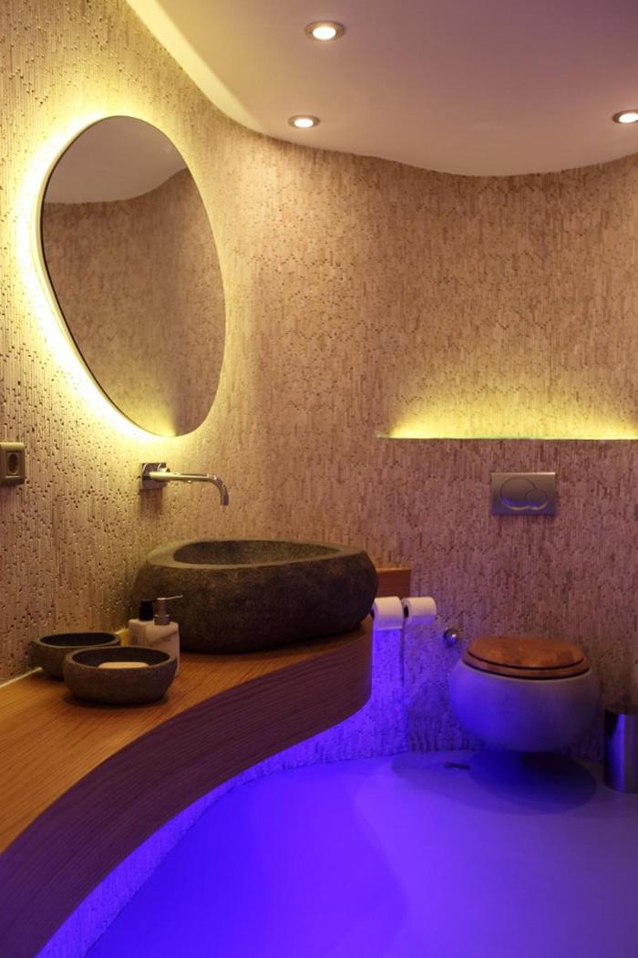 Дизайн освещения в ванной комнате в