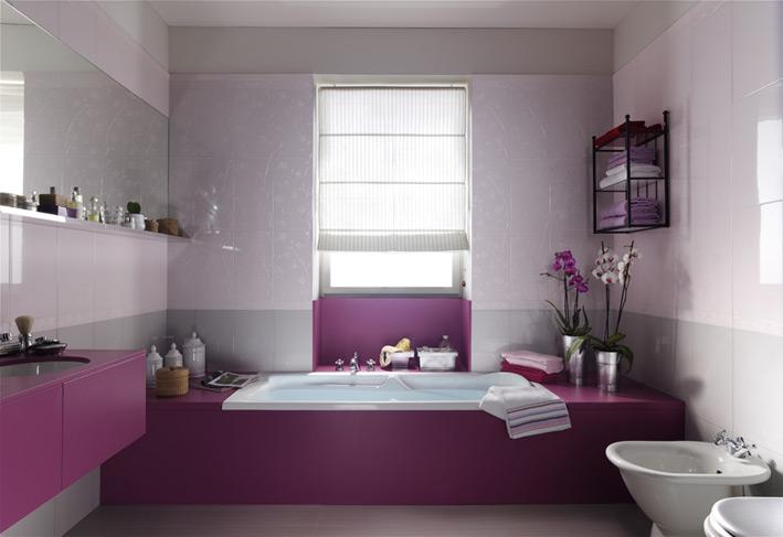 Вариант оформления ванной с яркими акцентами