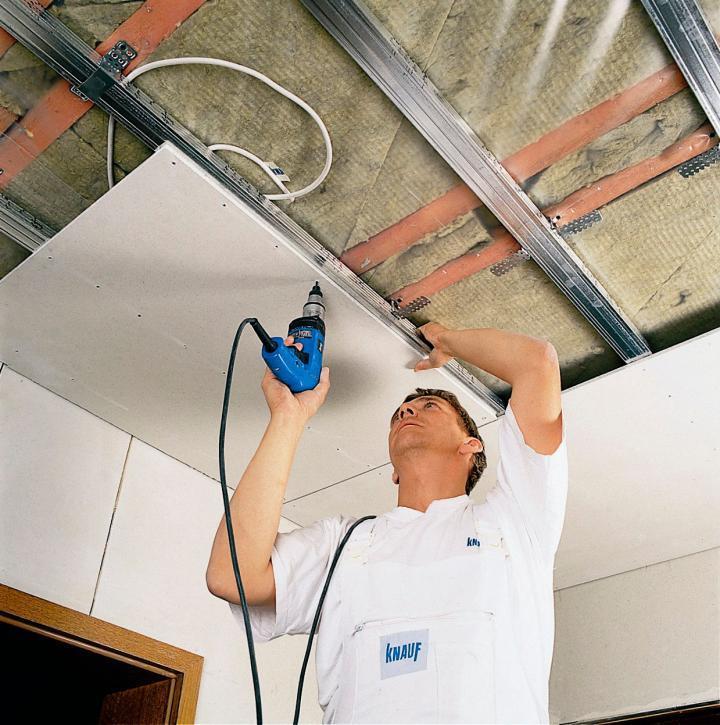 Пример установки потолка