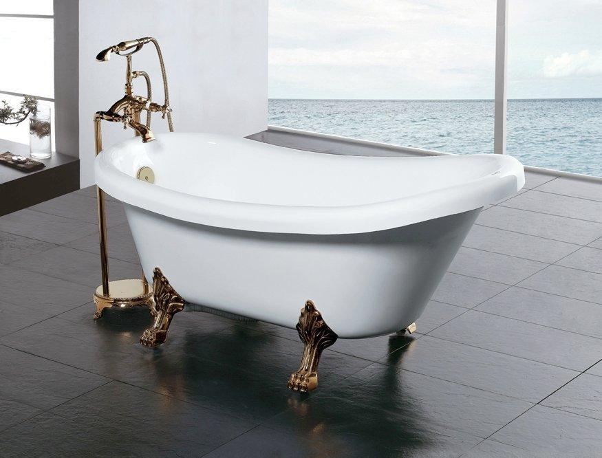 Пример сочетания классической ванны и смесителя