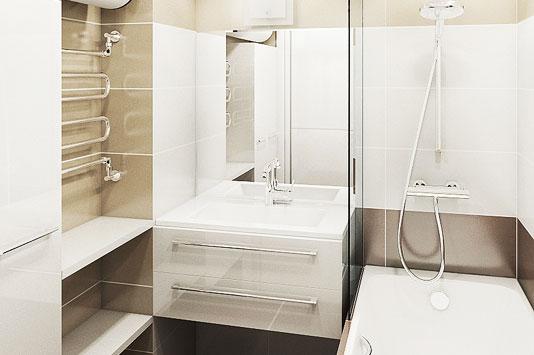 В маленьких помещениях для визуального расширения комнаты лучше использовать светлые тона