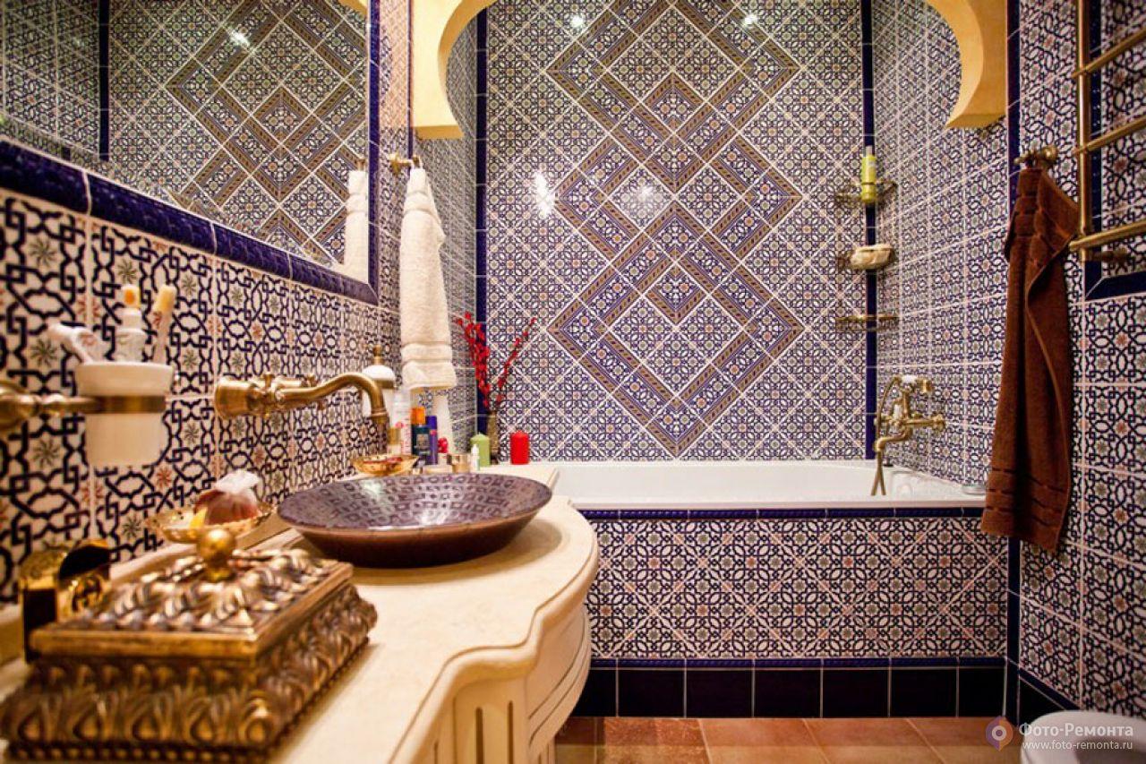 Ванная комната в восточном стиле - загадочно и оригинально