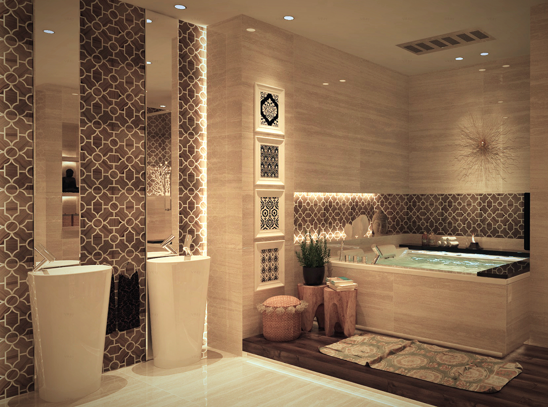 Дизайн плитки для ванной комнаты 2017 современные идеи