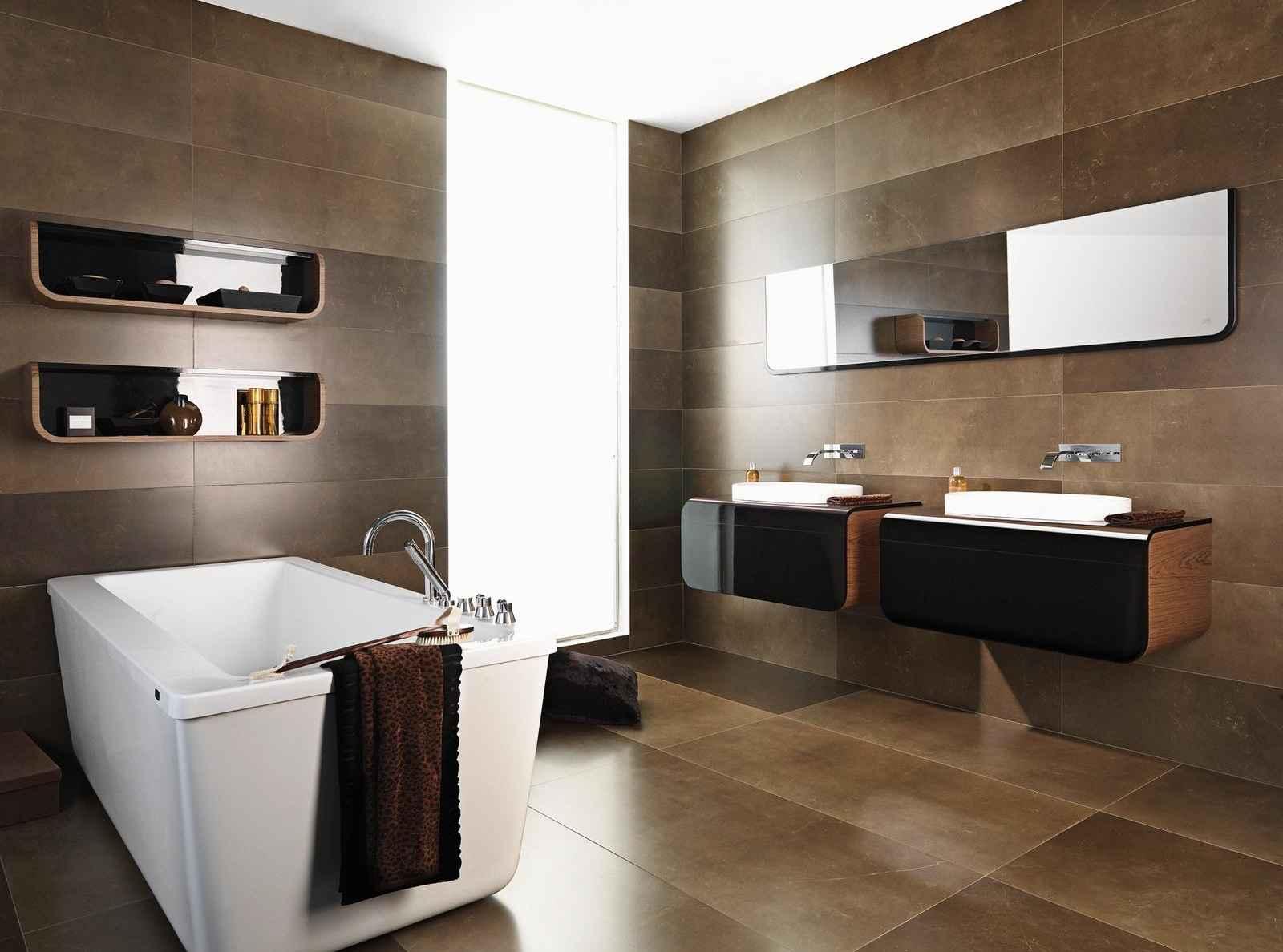 Вариант оформления ванной в стиле минимализм