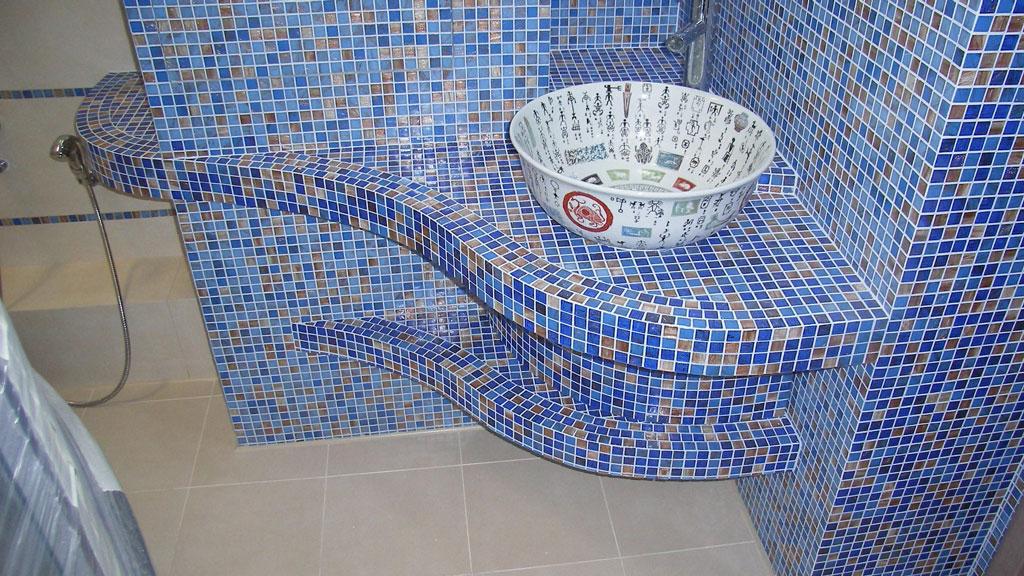 Мозаика своими руками в ванной комнате фото в 91