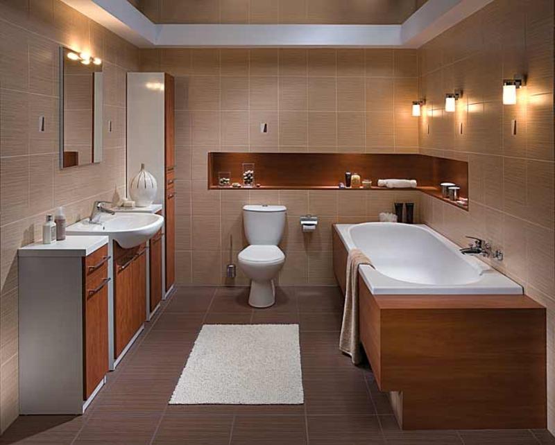 Дизайн ванных комнат совмещенных с туалетом с
