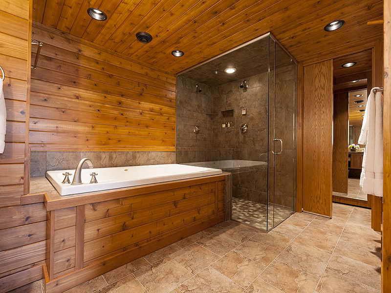 Отделка ванной вагонкой дизайн