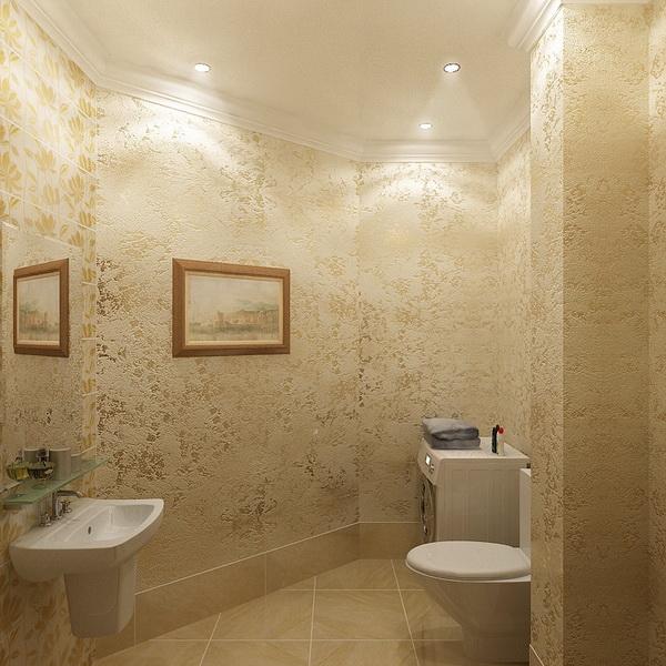 Стены в ванной декоративная штукатурка своими руками