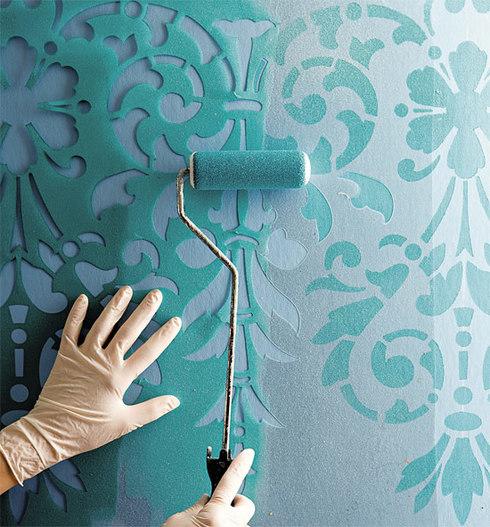 Один из вариантов техники окраски стен, который сделает интерьер комнаты неповторимым и оригинальным