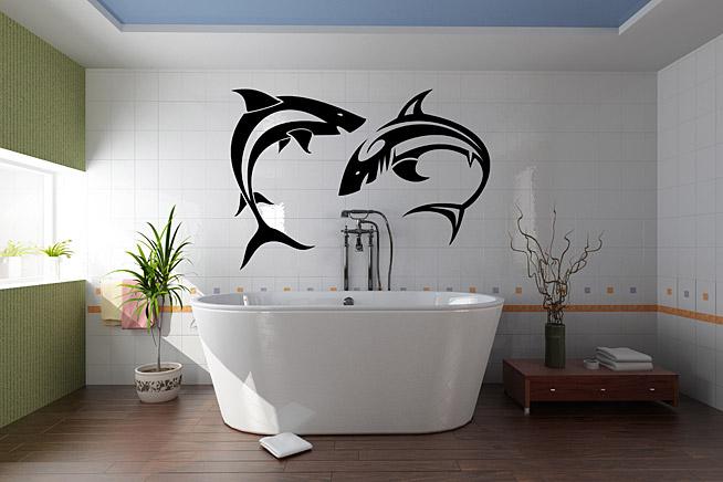 """Как правило, в ванной для декора используется """"морская"""" тематика"""