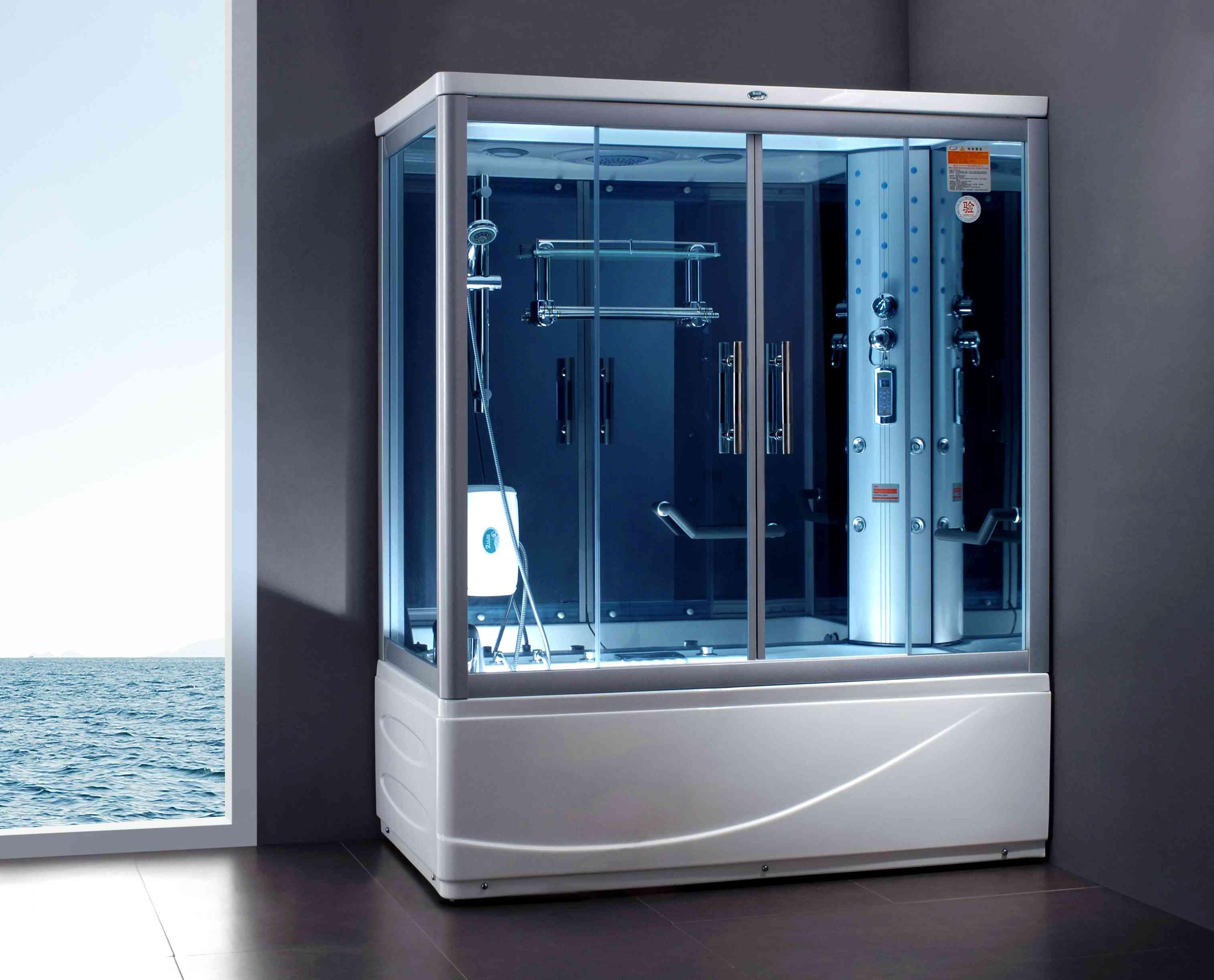 Преимуществом душевой кабины является не только экономия пространства в комнате, и вместе с тем возможность сочетать несколько функций