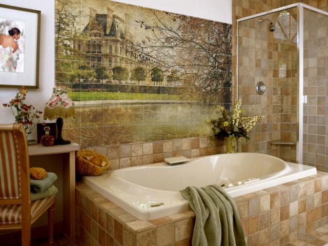 Плиточное панно для ванной