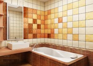 Фото примеров оформления ванной плиткой