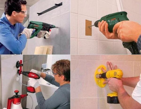 Основные рекомендации как сделать отверстие в плитке