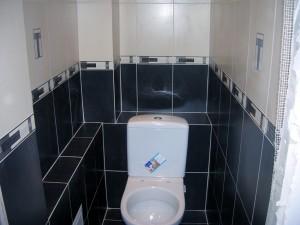 Преимущества оформления туалета плиткой состоит в легкости ухода и долговечности