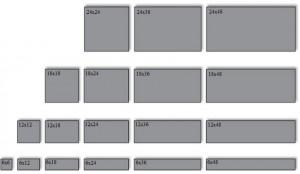 Плитка выпускается разных размеров, благодаря чему появляется возможность выбора наиболее подходящей
