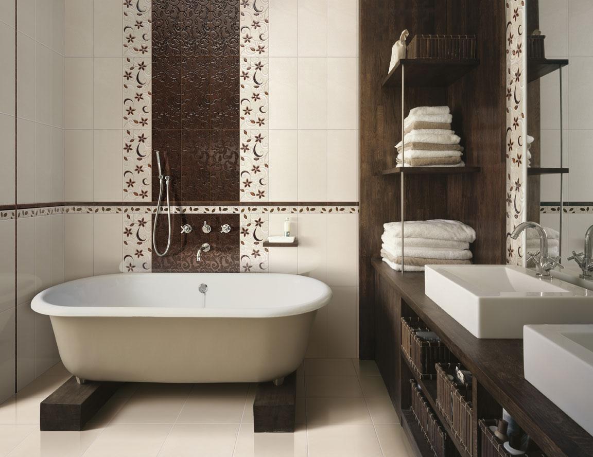 Дизайн ванны кафелем