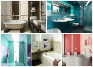 Отделочный материал в ванную должен отвечать определенным требования, одним из которых является простота в уходе