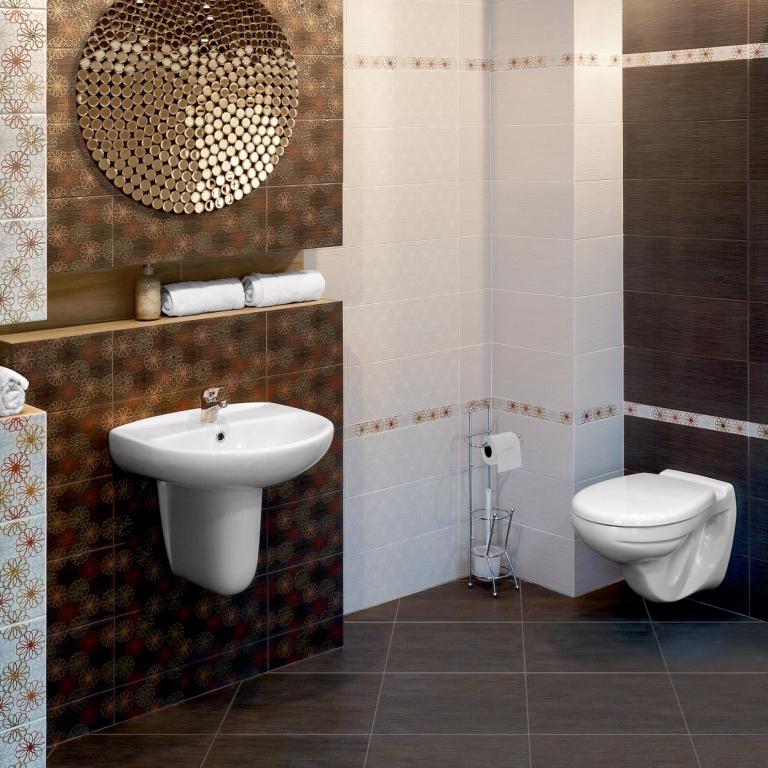 Кафель является классическим материалом для отделки ванной