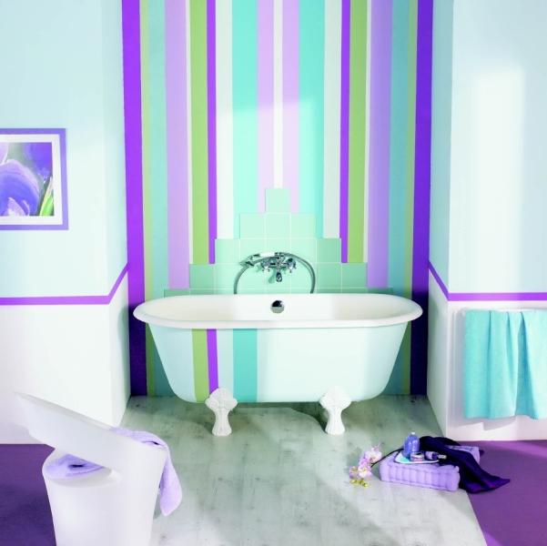 Комбинированный вариант окраски стен