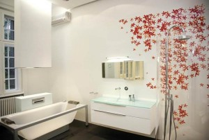 Декорировать можно часть комнаты с помощью готового рисунка